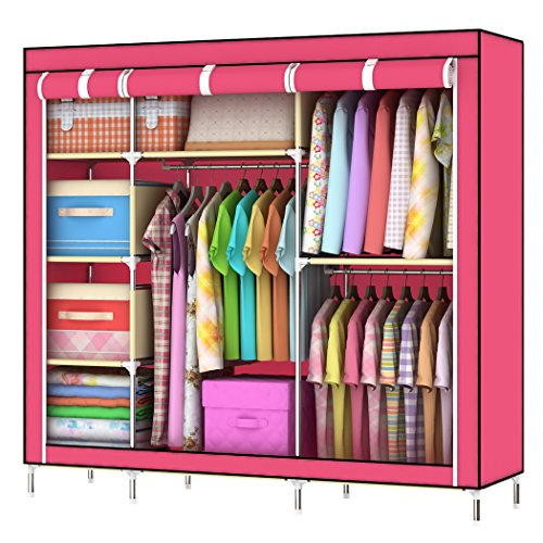 "Asunflower New 55"" Portable Closet Garment Wardrobe Stora..."