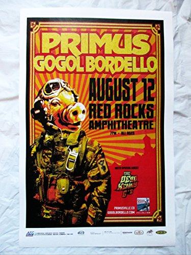 Rock Concert Poster (2010 Primus Gogol Bordello Red Rocks Concert Poster)