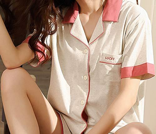 Que L M Refrescante Fresa Pijama Conjunto En Usar Hogar Corta Chaqueta Fino Se Punto Suave Servicio Fuera Puede La El Manga Algodón Baujuxing Bata De gx7qSFgwX