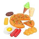 13PCS Plastic Kids Children Pizza Cola Ice Cream Food Pretend Role Play Set Toy