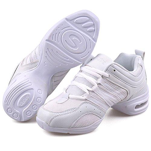 Dance Shoes a Trainers White CHNHIRA Ladies Black Dance Girls Sneakers Jazz Greek Dance vwx7xagz1q