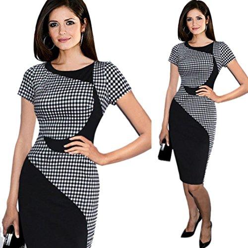 DaySeventh Summer Women Short Sleeve Elegant Business Dress Office Bodycon Dresses