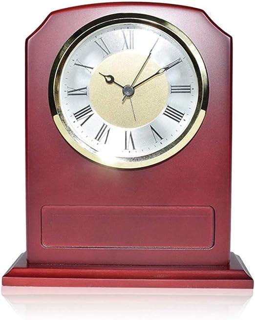JBP max Reloj de jardín Soporte Reloj Mesa silenciosa Reloj Asiento Dormitorio Sala de Estar pequeño reloj-JBP59: Amazon.es: Hogar