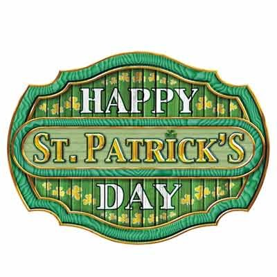 St. Patrick's Day Sign Small Wall Cling