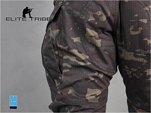 Homme Tenues de Combat Pantalon Militaire Gen3 Pantalons de Tactique et Genouillères Multicam Black 6