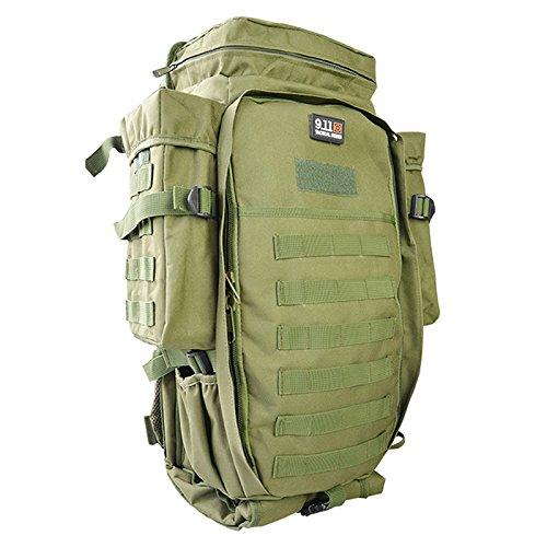 Meiyiu Sports Waterproof Backpack Adult Outdoor Oxford Cloth Package Large Capacity Unisex Multi-Functional Camping Bag ArmyGreen