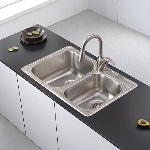 Kraus KTM32 33 inch Topmount 60/40 Double Bowl 18 gauge Stainless Steel Kitchen Sink by Kraus (Image #10)