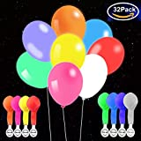 LED Light up Balloons 32 Pcs Mixed Colors Glow in The Dark Balloons with Flash Lights for Party, Birthday and Wedding Decorations