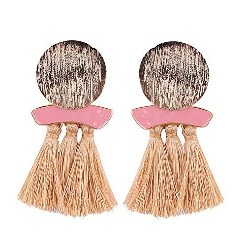 - Monowi Womens Fashion Bohemian Earrings Long Tassel Fringe Boho Dangle Earrings Jewelry | Model ERRNGS - 4542 |