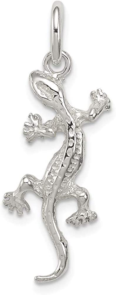 925 Sterling Silver Lizard Pendant Charm Necklace Animal Snake Reptile Man Fine Jewelry For Dad Mens Gifts For Him