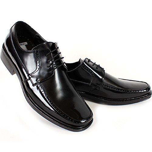 Los Nuevos Hombres Visten Zapatos Casuales Formales Lace Oxfords Cuero Negro