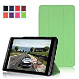 NVIDIA SHIELD Tablet K1 / NVIDIA SHIELD Tablet Case - Exact [SLENDER Series] NVIDIA SHIELD 8.0-inch Case - Ultra Slim Lightweight Smart-shell Stand Case for NVIDIA SHIELD Tablet K-1 (2015) / NVIDIA SHIELD Tablet (2014) Green