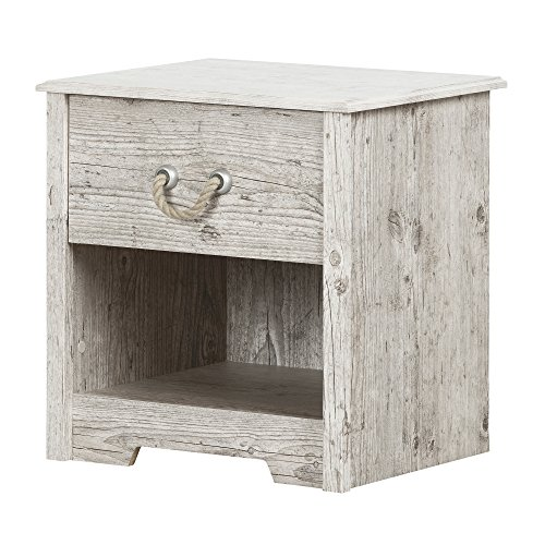 (South Shore 11891 Aviron 1-Drawer Nightstand, Seaside Pine)