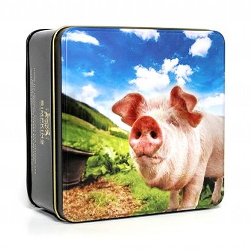 Simpkins Farmyard Pig Gift Tin Mixed Fruit Drops 250g Farmyard Cuties-philip ()