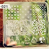 Nicole Diary Leaf Diamond Crown Pattern Nail Art Stamp Template Image Plate