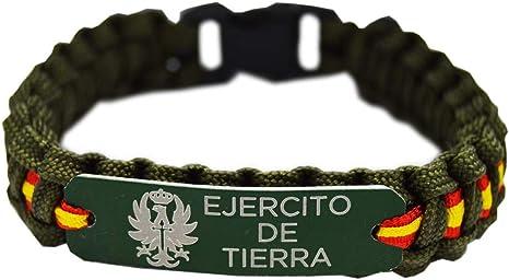 Pulsera Paracord Ejercito de Tierra España. Color Verde con Chapa ...