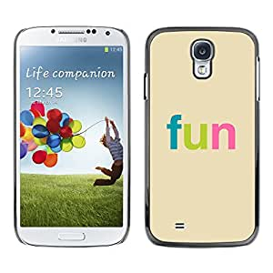 Stuss Case / Funda Carcasa protectora - Fun - Colorful Typography - Samsung Galaxy S4