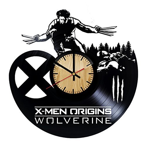 ForLovedGifts Wolverine X-Men Design Vinyl Wall Clock - Handmade Gift for Any Occasion - Unique Birthday, Wedding, Anniversary, Wall décor Ideas for Any Space