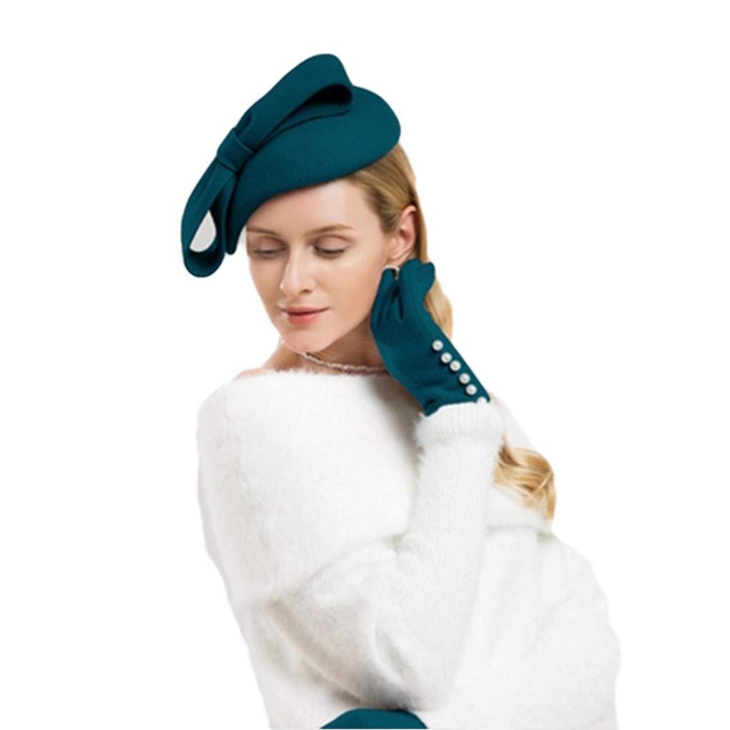 bluee Giles Jones Fascinator Winter Elegant Women Pillbox Hat Wedding Hats Derby Fedoras Hats