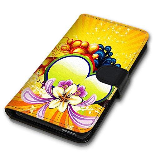 Wallet Book Style Flip Handy Tasche Case Schutz Hülle Schale Motiv Etui für Apple iPhone 4 / 4S - Design Flip MVD315