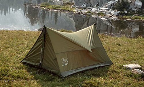 River Country Products Trekking Pole Tent, Ultralight Backpacking Tent, 2 Person All Weather Tent - Backpack Tent
