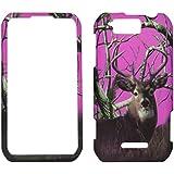 Sky Pink Camo Deer Pine Motorola Photon Q LTE XT897 Sprint Case Cover Phone Snap on Cover Case Faceplates