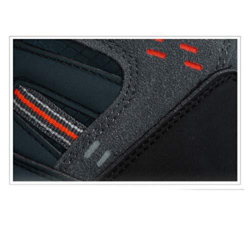 Primavera Deporte De Y Al Senderismo Otoño Invierno Altos Para Deportivos Zapatos Cuero Libre Hombres E Aire Grayblue XqRWTw