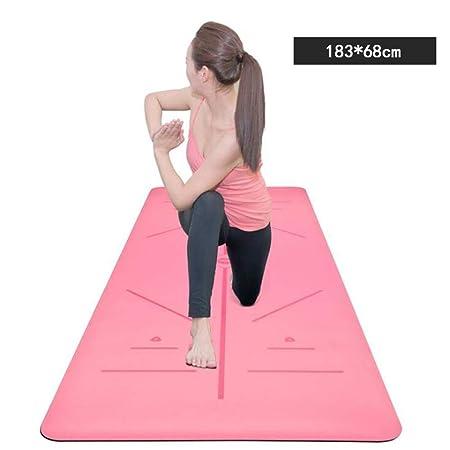 Alfombrilla de Yoga de Viaje con Líneas de Alineación ...