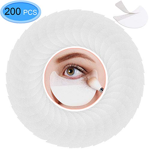 (EAONE 200 Pcs Professional Eyeshadow Pads, Eyeshadow Shields, Eyeshadow stencils, Eye Makeup Protection Pads, Makeup Protection Tool for Eyelash Extensions, Lip Makeup)