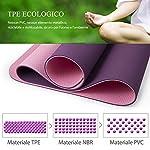 TOPLUS-Tappetino-da-Yoga-Tappetino-da-Yoga-Imbottito-e-Antiscivolo-Fitness-Pilates-e-Ginnastica-con-Cinturino-di-TPE180-x-60-cm