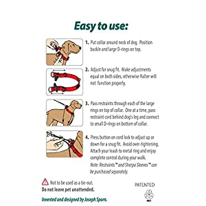 Dog Halter – Non-Pull No-Choke Humane Pet Training Halter Harness, Easy Step-in Vest Collar Halter for Control…