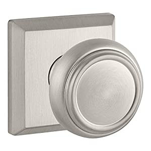 Baldwin HDTRATSR150 Reserve Half Dummy Traditional with Traditional Square Rose in Satin Nickel Finish