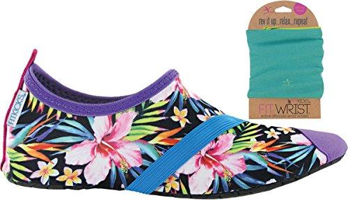 Fitkicks Damesschoenen Met Fitwrist Portemonnee, Weelderig Life Shoe Turquoise