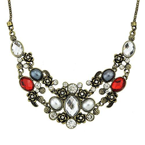 Feel on Top New Arrival Wholesale Costume Jewelry Vintage Graceful Rhinestone Statement Necklace with Free Jewelry (Charming Wholesale Jewelry)