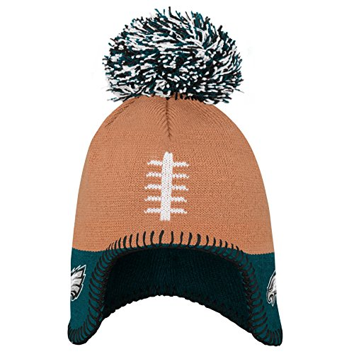 Outerstuff NFL Philadelphia Eagles Infant Football Head Knit Hat Jade, Infant One Size