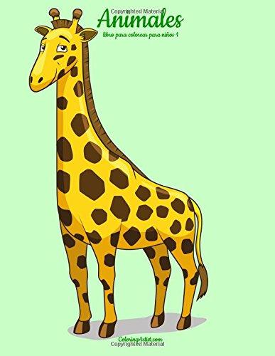 Animales libro para colorear para niños 1 (Volume 1)  [Snels, Nick] (Tapa Blanda)