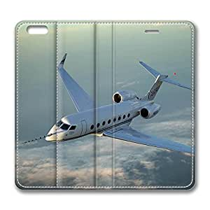 iPhone 6 Case, iPhone 6 Leather Case, Fashion Protective PU Leather Slim Flip Case [Stand Feature] Cover for New Apple iPhone 6(4.7 inch) - Gulfstream G650