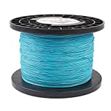 HERCULES Super Cast 1000M 1094 Yards Braided Fishing Line 300 LB Test for Saltwater Freshwater PE Braid Fish Lines Superline 8 Strands - Blue, 300LB (136.1KG), 1.20MM