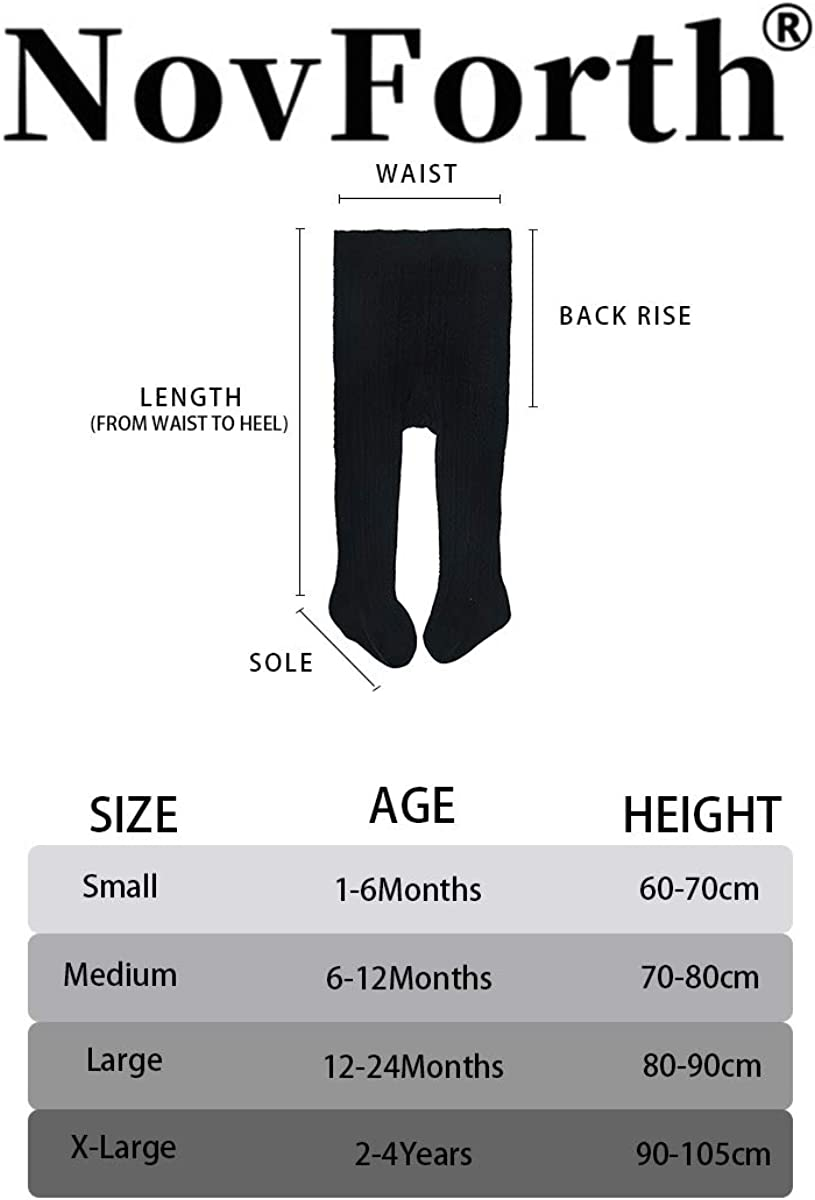 NovForth Baby Boys Girls Tights Toddler Seamless Leggings for Baby Girls Cable Knit Cotton Pants Stockings