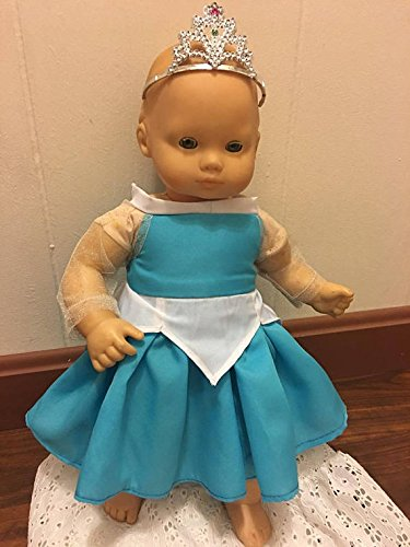 Fits 15 inch Bitty Baby or larger Baby Alive Doll Clothes Princess Aurora Replica Dress Gown Handmade Clothes Only