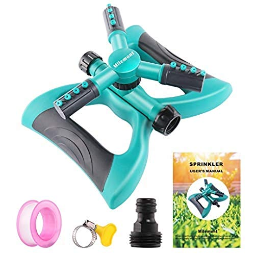 Milemont Garden Sprinkler Lawn Irrigation System 360 Degree Rotating Lawn...