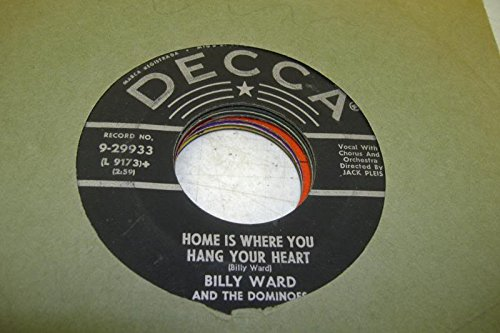Billy Ward and the Dominoes 45 RPM St. Therese of the Roses / Home is Where You Hang Your - Florida Where Is The Mall