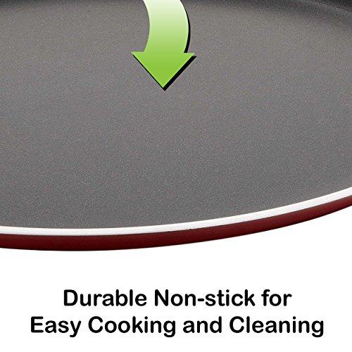 NIRLON-MasterChef-Non-Stick-Cookware-Round-DOSA-TAWA-Size-28cm-Heavy-Gauge-Premium-Quality-3-Layer-Coating-with-high-Performance-Kitchen-Multipurpose-Cooking-Flat-Pans-Set-2-Piece