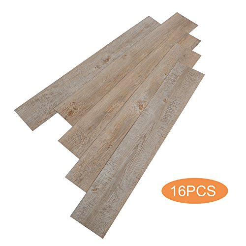 CO-Z 16 PCS Odorless Vinyl Floor Planks Adhesive...