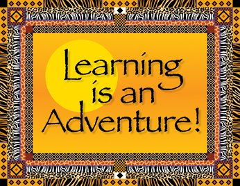 Africa Learning is an Adventure Say-It Classroom (Safari Name Tags)