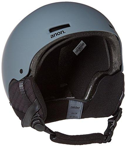 2012 Burton Mens Snowboard (Anon Men's Raider Helmet, Dark Gray, Medium)