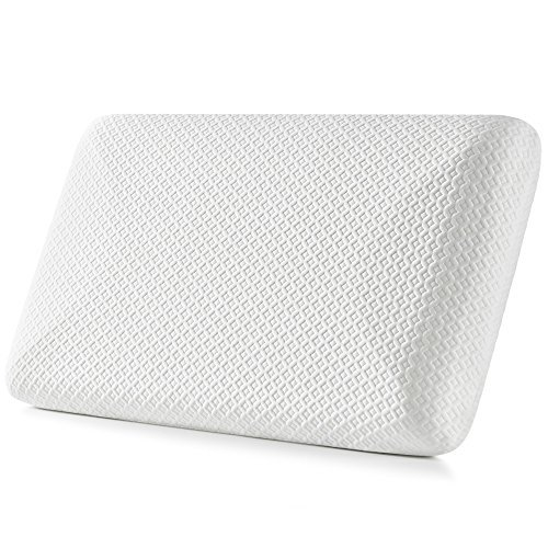 Firm Memory Foam Pillow for Side Sleepers - Jiaao Hypoallergenic Bed Pillow for Neck Pain Relief, Top Rated Cervical Pillow with Removable Scuba Cover with Invisible Zipper, Standard