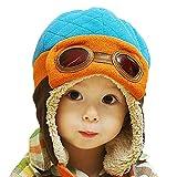 PanDaDa Baby Boys Hats Winter Warm Cap Hat Beanie Pilot Aviator Crochet Earflap