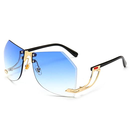Yangjing-hl Gafas Redondas Redondas Gafas Ocean Eye Gafas de ...