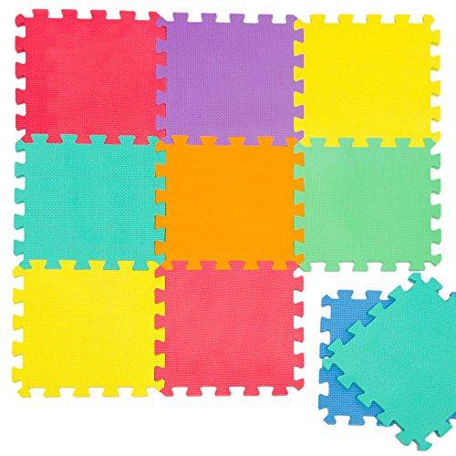 Puzzlematte Spielmatte Uni Bunt 10-tlg. Spielteppich Schaumstoff Puzzle Kinderteppich